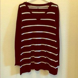 V-neck sweater tunic size M